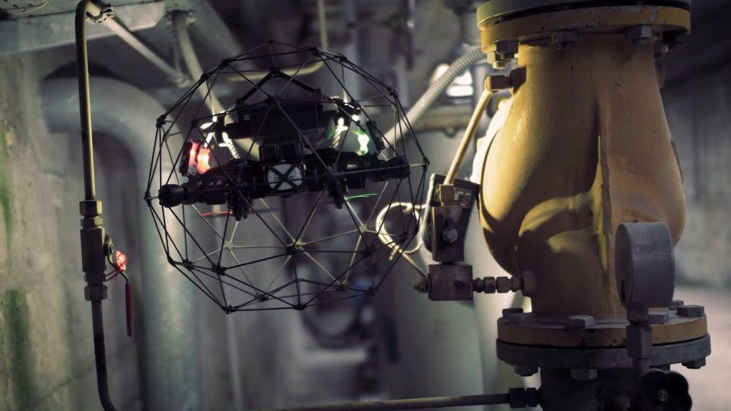 drone survey elios 2